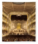Covent Garden Theatre, From Microcosm Fleece Blanket