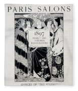 Cover For Art At The Paris Salons Fleece Blanket