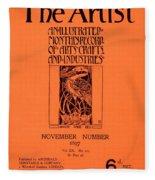 Cover For The Artist Magazine, November 1897 Fleece Blanket