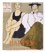 Cover Of Harpers Magazine, 1896 Fleece Blanket