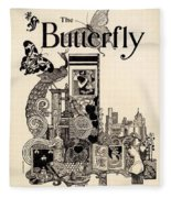 Cover Of The Butterfly Magazine Fleece Blanket