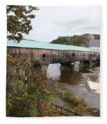 Covered Bridge  Bath Fleece Blanket