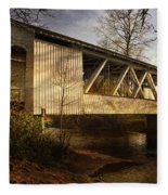Covered Bridge Fleece Blanket