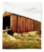 Covered Bridge Magic Fleece Blanket