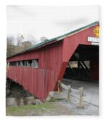 Covered Bridge Taftsville Fleece Blanket