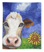 Cow Fantasy One Fleece Blanket