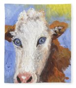 Cow Fantasy Three Fleece Blanket