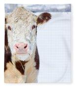 Cow - Fine Art Photography Print Fleece Blanket