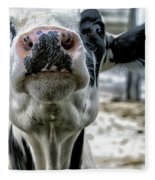 Cow Kiss Me Fleece Blanket
