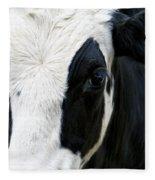 Cow Left Profile Fleece Blanket