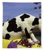 Cow On Clog 3 Fleece Blanket