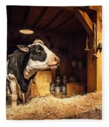 Cow On The Farm Fleece Blanket