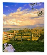 Cow Out To Pasture In Costa Rica Fleece Blanket