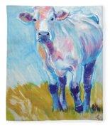 Cow Painting Fleece Blanket