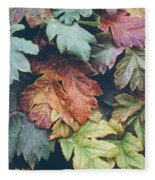 Cow Parsnip Leaves In The Fall Fleece Blanket