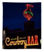 Cowboy Bar Fleece Blanket