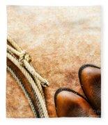 Cowboy Boots And Lasso Fleece Blanket