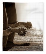 Cowboy Boots And Riding Spurs Fleece Blanket