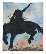 Cowboy Bronco Fleece Blanket
