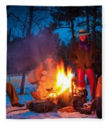 Cowboy Campfire Fleece Blanket