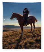 Cowboy Looks Out Over Historic Last Fleece Blanket