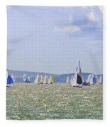 Cowes Week Isle Of Wight Fleece Blanket
