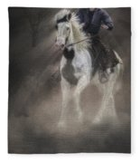 Cowgirl And Knight Fleece Blanket