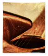 Cowgirl Boots And Country Music Fleece Blanket