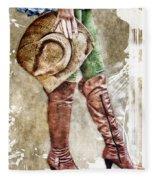 Cowgirl Boots Fleece Blanket