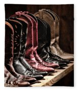 Cowgirl Boots Collection Fleece Blanket