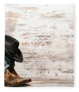 Cowgirl Boots Fleece Blanket
