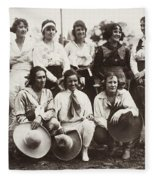 Cowgirls, 1910 Fleece Blanket
