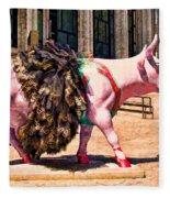 Cow Parade N Y C 2000 - Prima Cowlerina Fleece Blanket