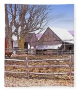 Cows At Jenne Farm Fleece Blanket