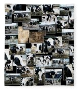 Cows Collage Fleece Blanket