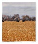 Cows In The Corn Fleece Blanket