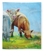 Cows Landscape Fleece Blanket