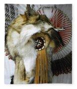 Coyote Headdress 1 Fleece Blanket