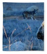 Coyote Wild Fleece Blanket