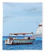Cozumel Excursion Boats Fleece Blanket