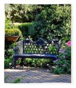 Cozy Southern Garden Bench Fleece Blanket