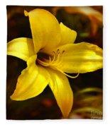 Cozy Yellow Daylily Fleece Blanket