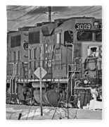 Cp Rail Train Bwtr9099-12 Fleece Blanket