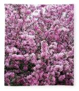 Crab Apple Tree Fleece Blanket
