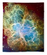 Crab Nebula Fleece Blanket