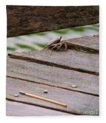 Crab On The Pier  Fleece Blanket