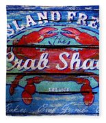 Crab Shack Fleece Blanket