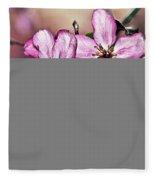 Crabapple Blossom Fleece Blanket