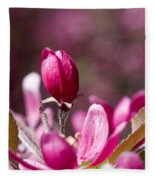 Crabapple Bud Fleece Blanket