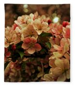 Crabapple In Bloom Fleece Blanket